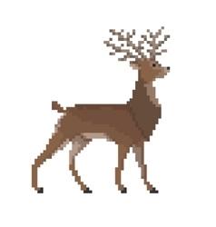 Pixel reindeer vector