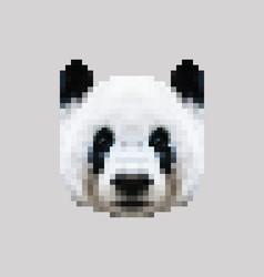 Pixel siberian panda face vector