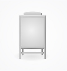 realistic template blank white menu board vector image