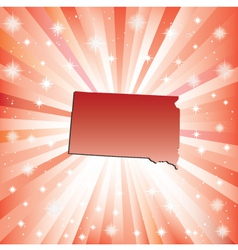 Red South Dakota vector image