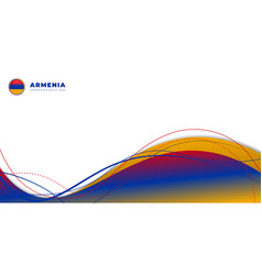Red yellow and blue abstract design on white vector