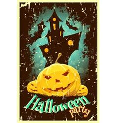 Retro Style Halloween Poster vector