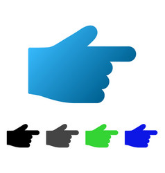Right index finger flat gradient icon vector