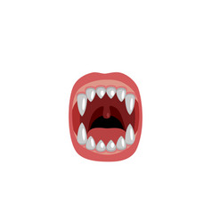 scary mouth with fangs design for halloween vector image