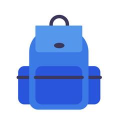 school backpack blue rucksack for students vector image