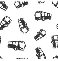 School bus icon seamless pattern background vector
