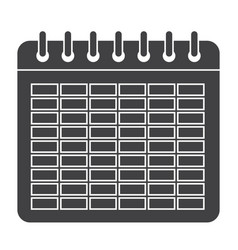 school timetable icon vector image