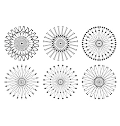 Set of geometric hipster shapes 97rd vector