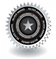 silver award icon vector image