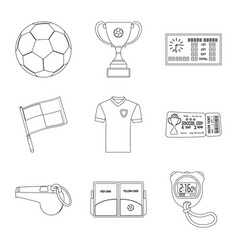 soccer and gear symbol vector image