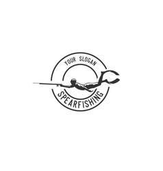 spearfishing vector image