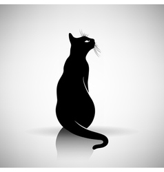 Stylized silhouette of a cat vector
