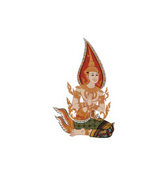 Thai traditional painting vector