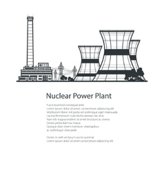 Thermal Power Station Poster Brochure Design vector image