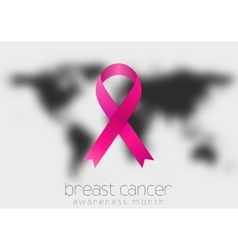Breast cancer awareness pink ribbon and black vector image