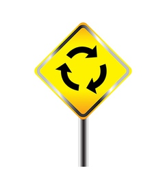 Caution sign road vector