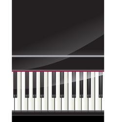 grand piano keys background vector image