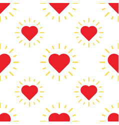 love hearts pattern with ray vector image vector image