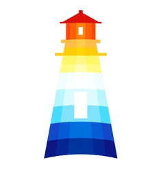 Modern Lighthouse vector image