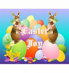 victorian bunny vector image vector image