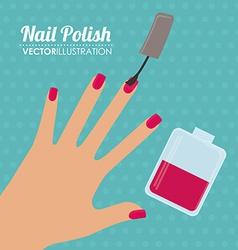 Make up design over white background vector image vector image