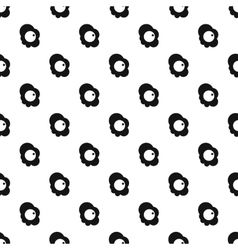 Scrambled eggs pattern simple style vector image