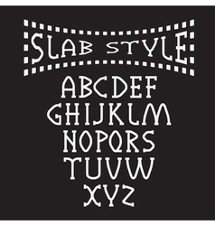 slab style alphabet vector image vector image