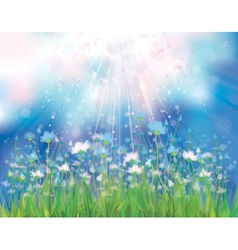 spring blue flowers vector image vector image