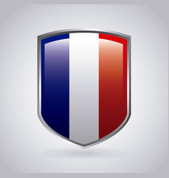 france emblem with french flag colors vector image vector image
