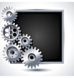 mechanical gears vector image