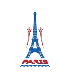 Paris France city label or logo vector image vector image