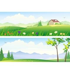Summer landscape banners vector image vector image