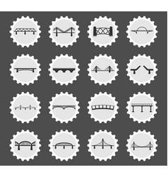 bridges icons set vector image vector image