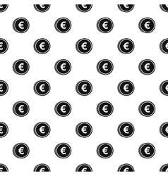 Coin with euro sign pattern simple style vector