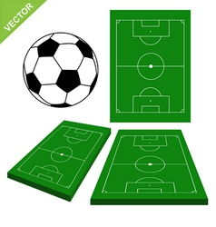 Soccer ball and soccer stadium vector image