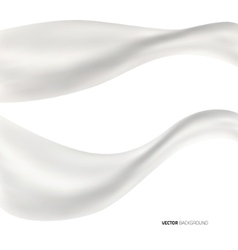 White abstract liquid background vector image vector image