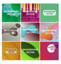 Abstract background set art template design for vector