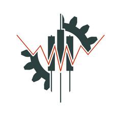 Abstract trading emblem vector