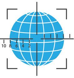 Aiming the globe vector