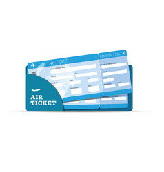 air ticket travel sign in blue vector image