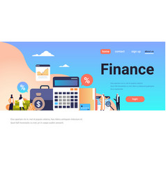 arabic business people graph finance analysis vector image