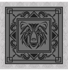 Bear tattoo animal design vector