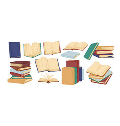 books hand drawn set blank vector image