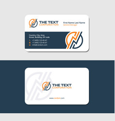 Business card with a lightning vector