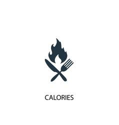 Calories icon simple element vector