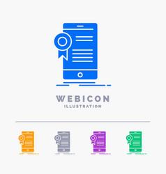 certificate certification app application vector image