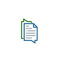 chat document logo icon design vector image