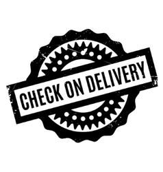 Check On Delivery rubber stamp vector