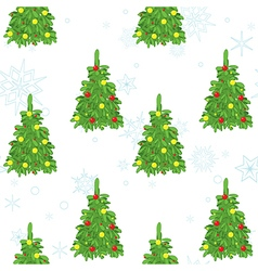 christmas seamless texture with decorative trees vector image