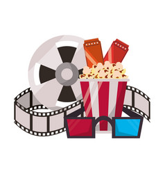 Cinema and movies cartoons vector